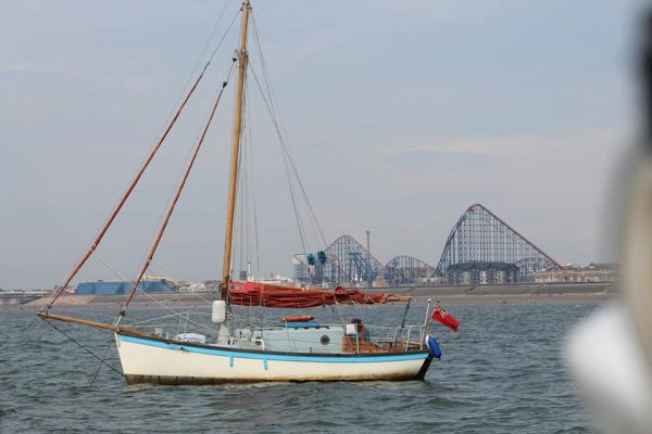 Sunny 'social distancing' sailing off Blackpool