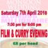 Film and Curry Evening -Saturday, 7th April