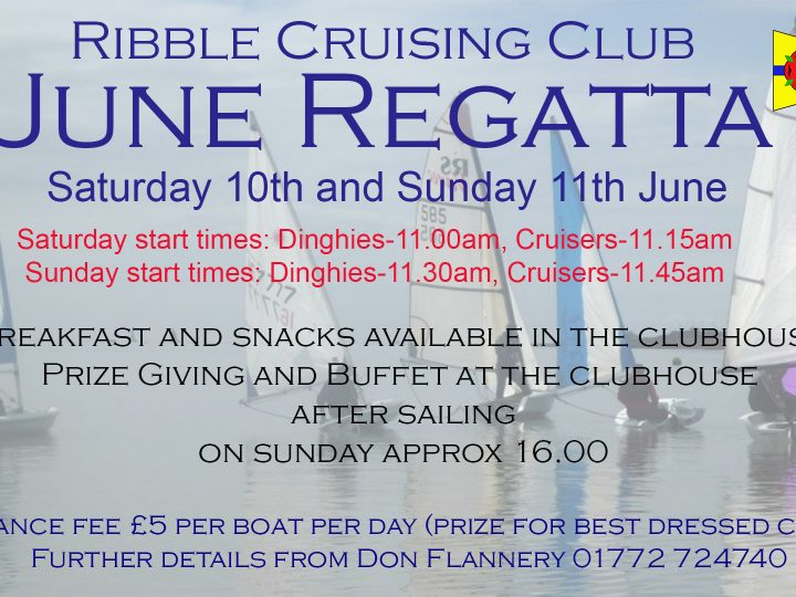 June Regatta Sat 10th and Sunday 11th June