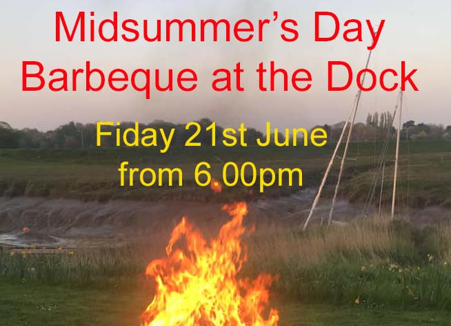 Midsummer Barbeque at the dock