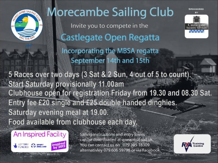 Rearranged 2019 MBSA Dinghy Regatta -14th and 15th September