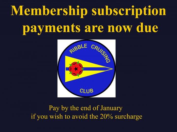 2020 Membership subscription payments are now due