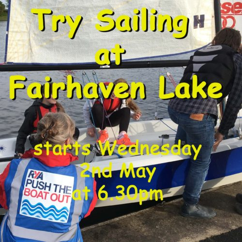 Come along and 'Try Sailing' at Fairhaven Lake