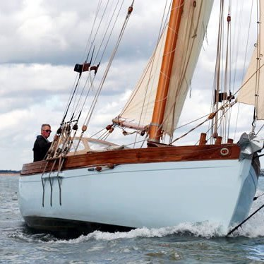 Vote for David Moss's gaff cutter 'Polly' in the Classic Boat awards