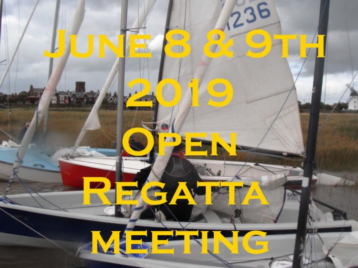 8th and 9th June 2019 Open Regatta