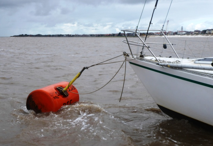 A replaced club mooring at Seafield Road