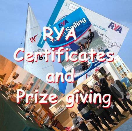 RYA Certificates and Sailing Awards Night -2018 Season
