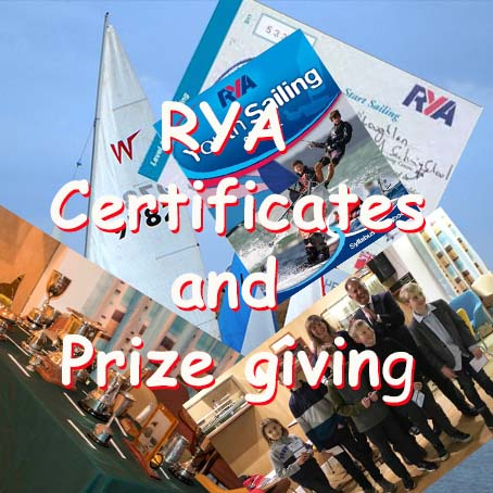 RYA Certificates and Sailing Awards Night -2018 Season
