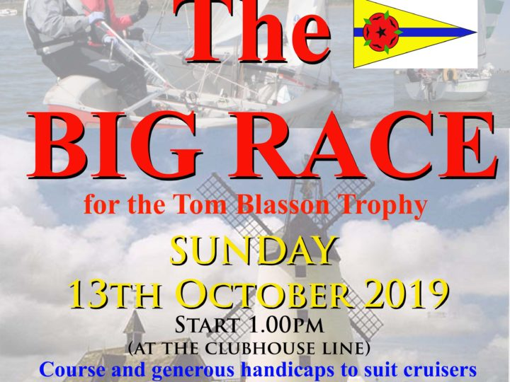 The BIG race re-arranged for Sunday 13th October -10.45am start